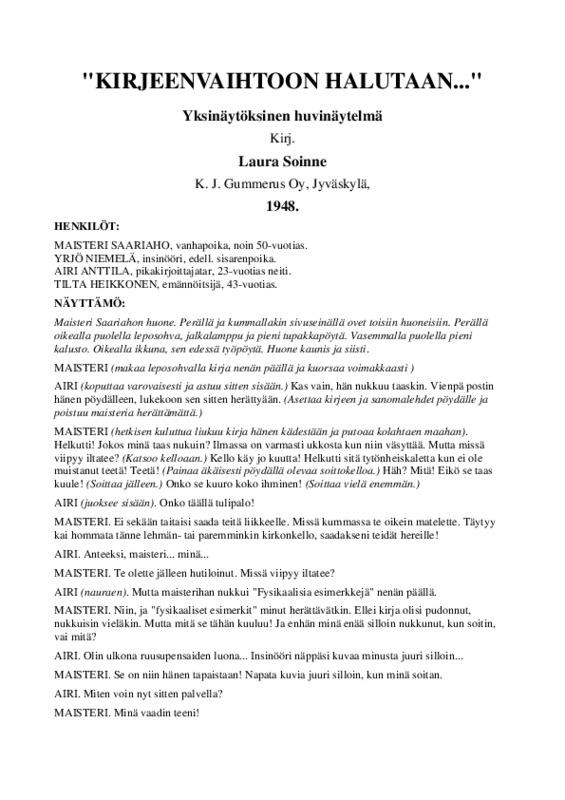 Kirjeenvaihtoon halutaan....pdf