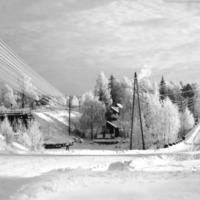 Keuruun rauta- ja maantie talvella