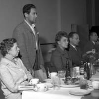 Yhteiskoulun opettajain asuntotalon harjannostajaiset 1961