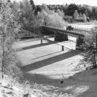 Talvinen kuva Lapinsalmen sillasta