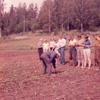Maatalouskerhoneuvoja opastamassa kerhopalstan hoidossa Ilvesjärvellä