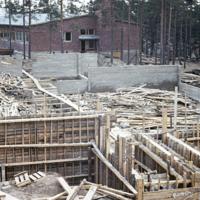 Yhteiskoulun rakennustyötä 1960