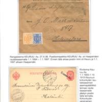 Postitoimipaikkojen leimoja I