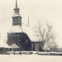 Keuruun vanha kirkko talvella