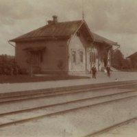 Näkymä Keuruun asemalle 1900-luvun alussa