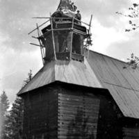 Pihlajaveden vanhan kirkon korjausta