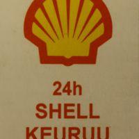Keuruun Shell-huoltoaseman tulitikkuetiketti