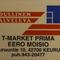 T-Market Priman tulitikkuetiketti