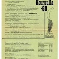 Juhannus Keuruulla 1968