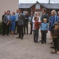 Maatalousväkeä retkellä 1960-1970 -luvun taitteessa
