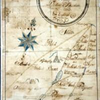 Karttajäljennös Keuruun ja Jämsän raja-alueesta vuodelta 1693