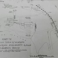 Kartta Keuruun Terva Oy:n alueesta