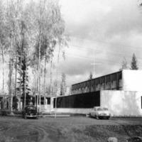 Keuruun varuskunnan kasarmi- ja huoltorakennuksia 1960-luvun lopulla